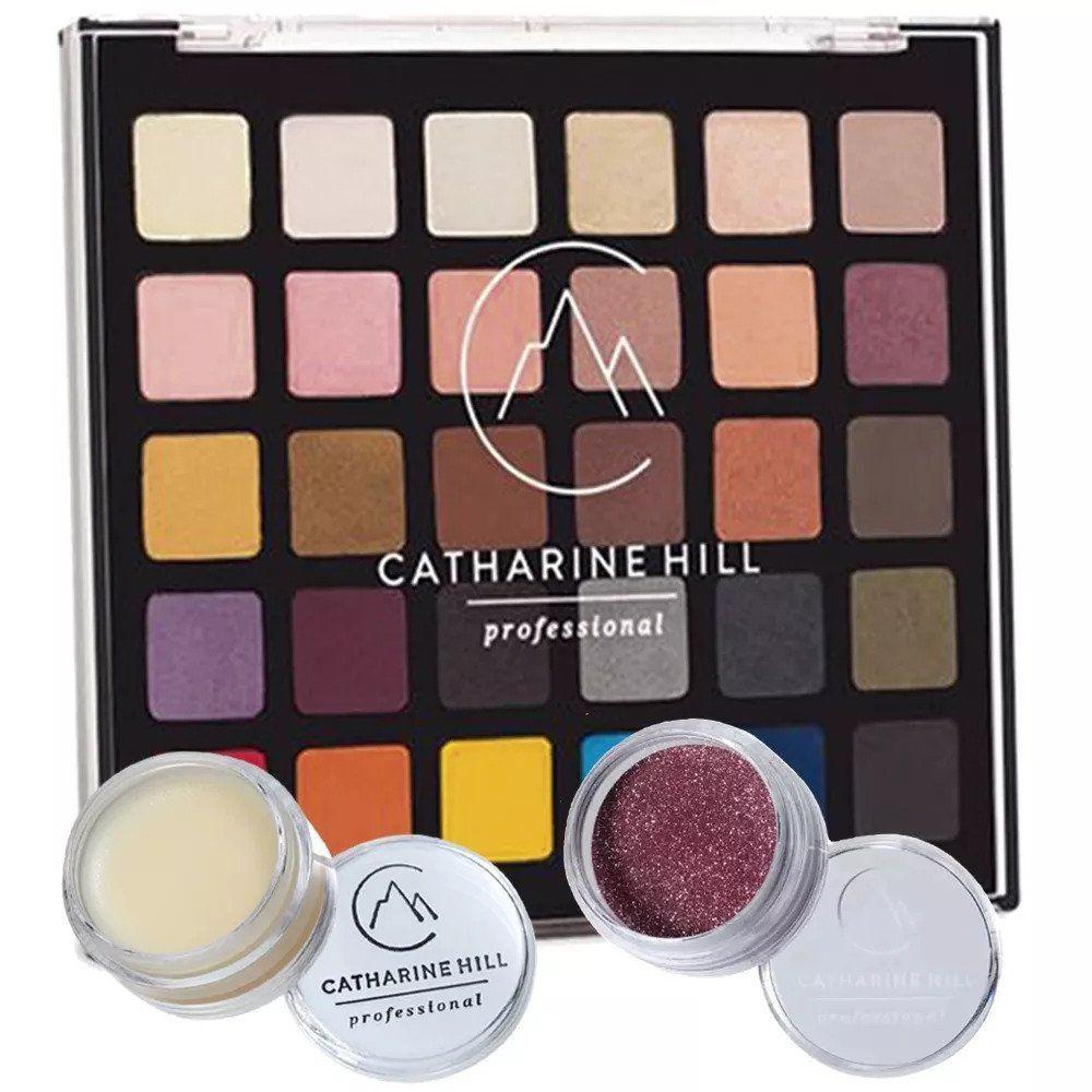 Paleta de Sombras Catharine Hill + Glitter Rosa + Fixador de Glitter