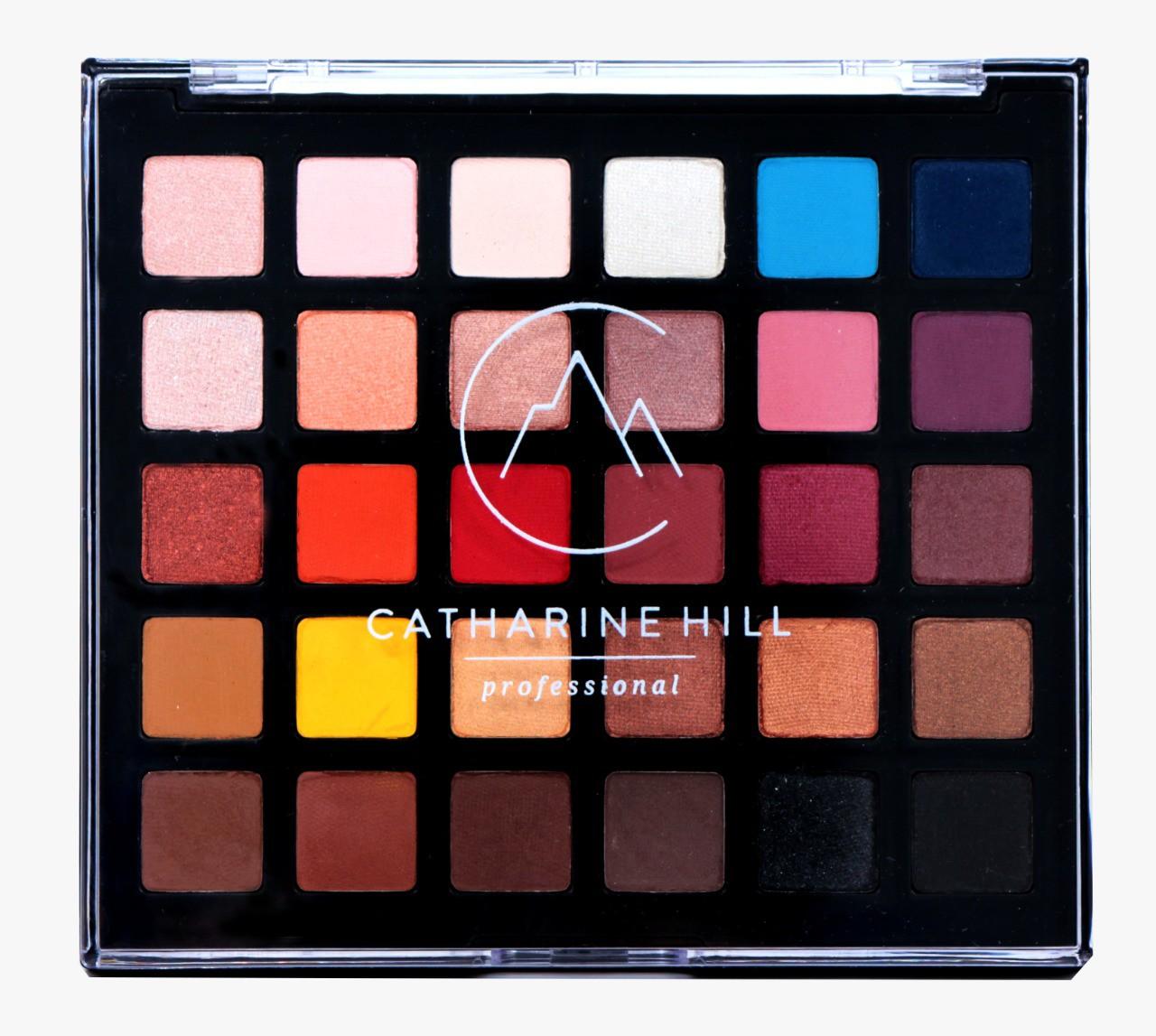 Paleta de Sombras Variadas 30 Cores Alta Pigmentação - Catharine Hill Edição 15 Anos
