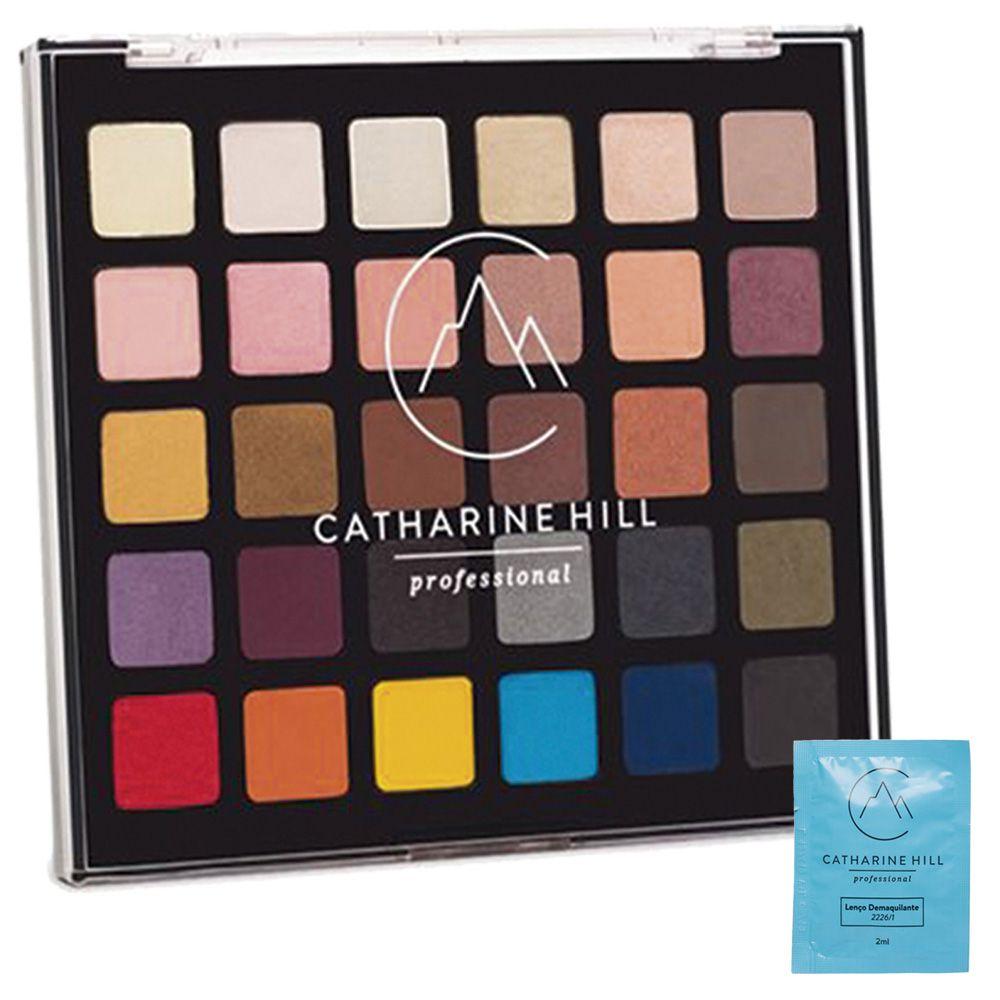 Paleta de Sombras Variadas 30 Cores - Catharine Hill + Brinde