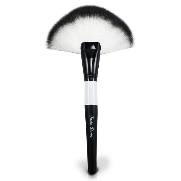 Pincel Leque de Maquiagem para Aplicar Iluminador e Pó - Jacki Design FYD17503