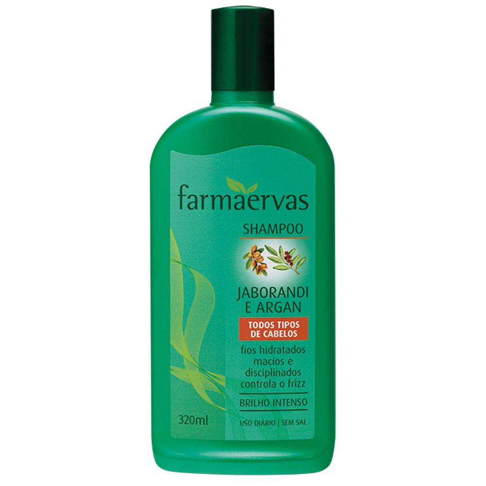 Shampoo Antifrizz Jaborandi e Argan - Farmaervas