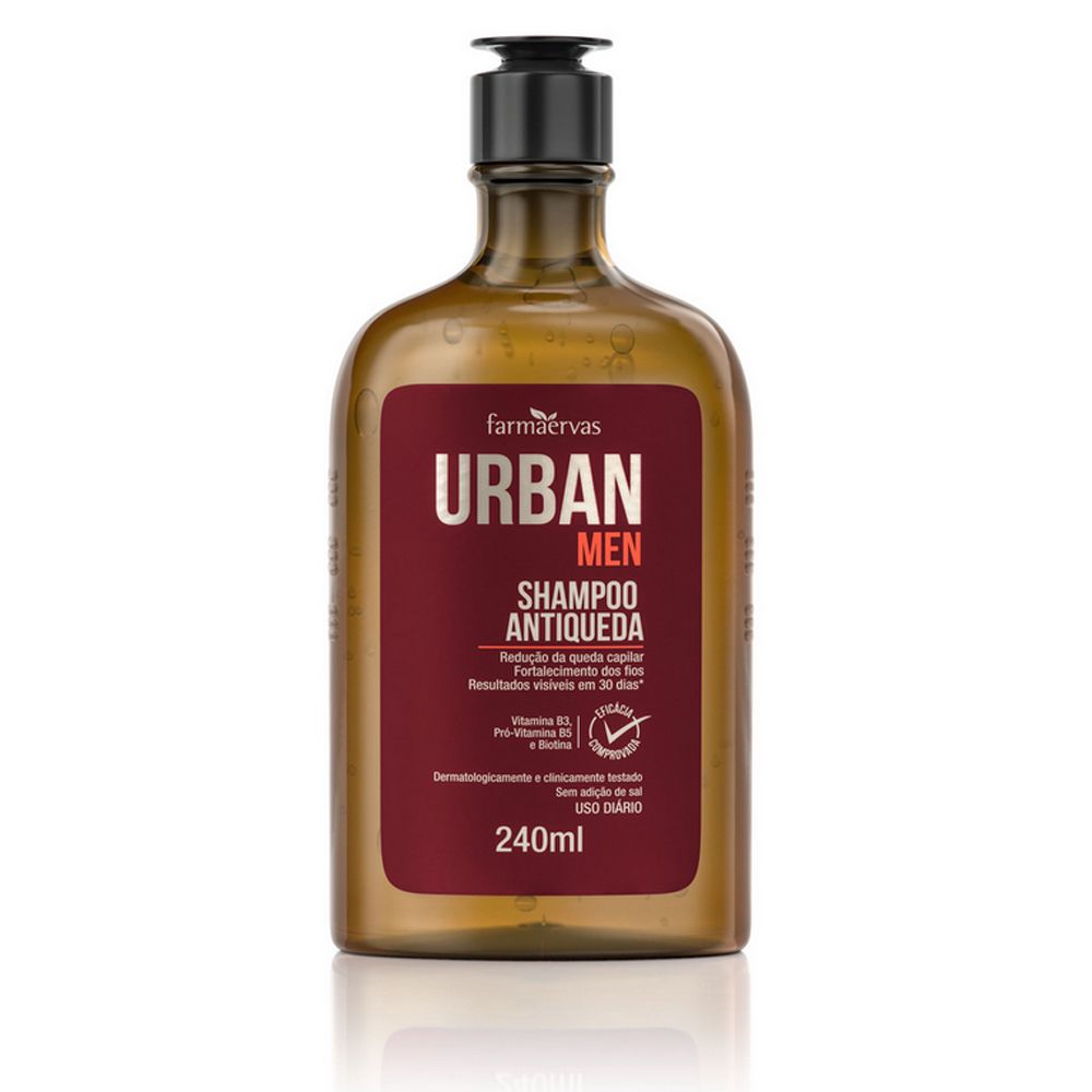 Shampoo Antiqueda Urban Men 240ml - Farmaervas