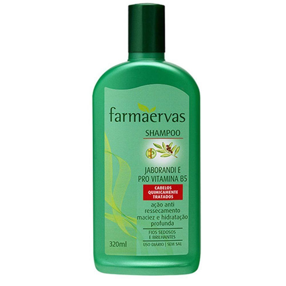Shampoo Hidratante Jaborandi e Pró Vitamina B5 - Farmaervas