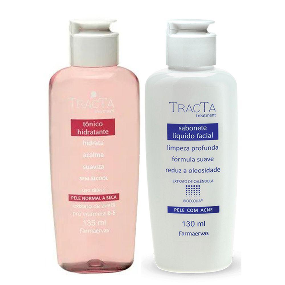 Tônico Hidratante + Sabonete Líquido Facial - Tracta