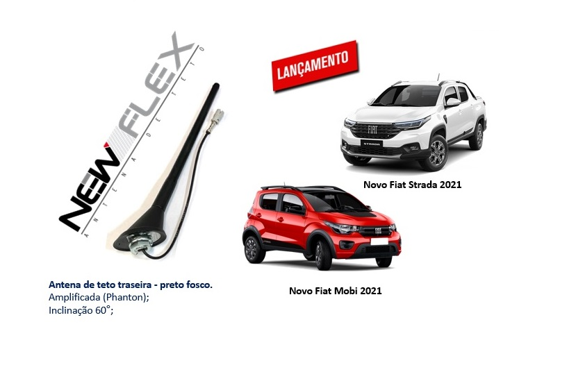ANTENA NEW FLEX FIAT STRADA/MOBI
