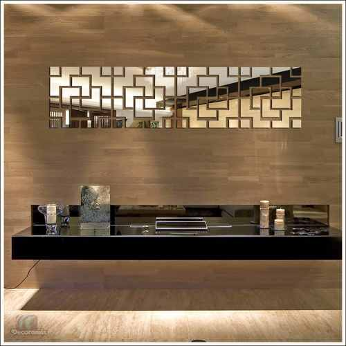 Espelhos Decorativos Para Quarto de Casal Em Acrílico Estilo Diagonal 33 X 134 Cm