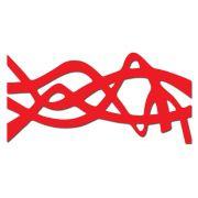 Decoração Para Quarto de Casal Com Escultura Vazada Vermelho