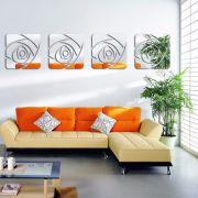 Espelho Decorativo Acrílico De Parede Design Rosa Espelhada 33 x 137 cm