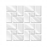 Espelho Decorativo de Vidro Quadrados Retângulos 50 x 206 cm