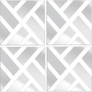 Espelho Decorativo Retângulos Diagonal 49 x 202 cm