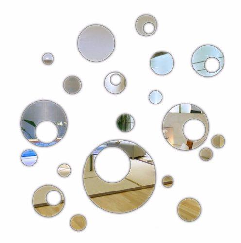 Espelho Decorativo Em Acrílico - Bolas Vazadas 20 Peças