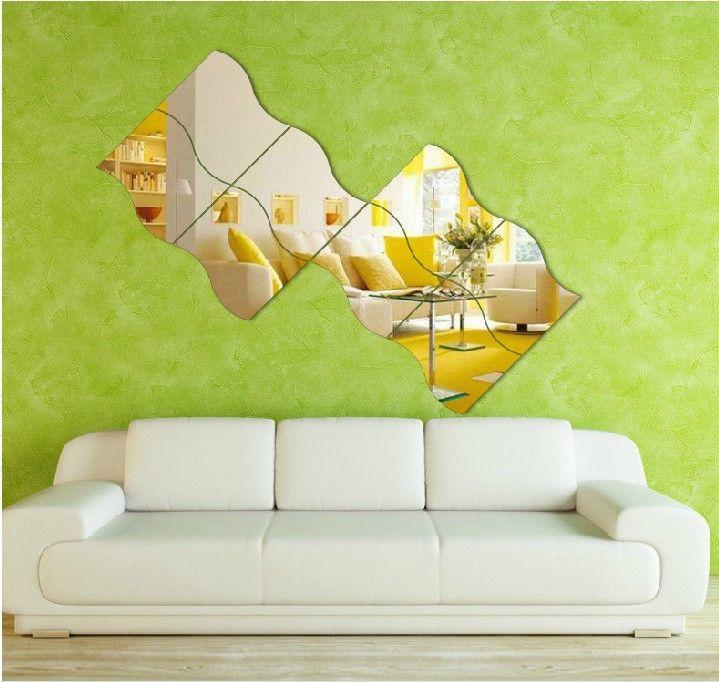 4 Espelhos Decorativos De Acrílico Tamanho De 25 cm X 106 cm