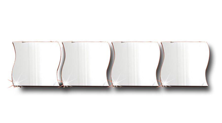 4 Espelhos Decorativos De Acrílico Tamanho De 33 cm X 1,37 mt