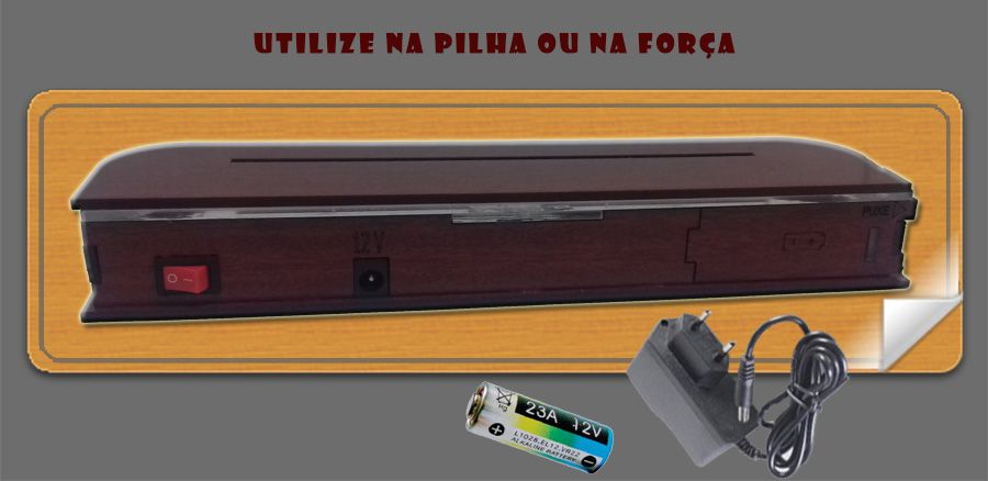 Abajur / Luminária De Mesa Em Acrílico Túnel 3d Com Led Azul  com cabo de força e pilha