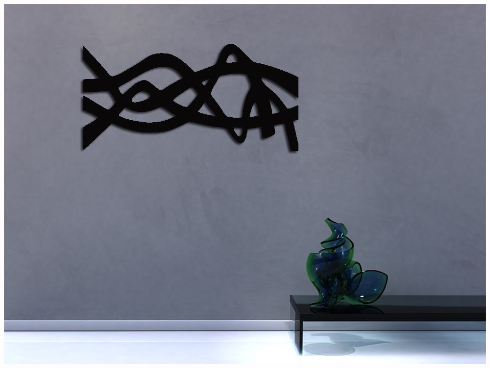 Decoração de Ambientes Com Escultura Vazada Preto