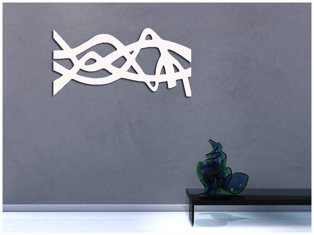Escultura Vazada Para Decoração De Ambientes Cor Branco 1 metro