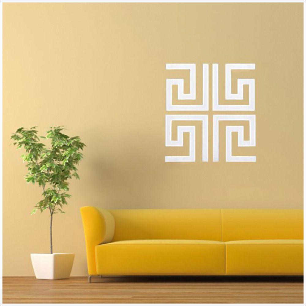 Espelhado Decorativo Labirinto 50 x 50 cm