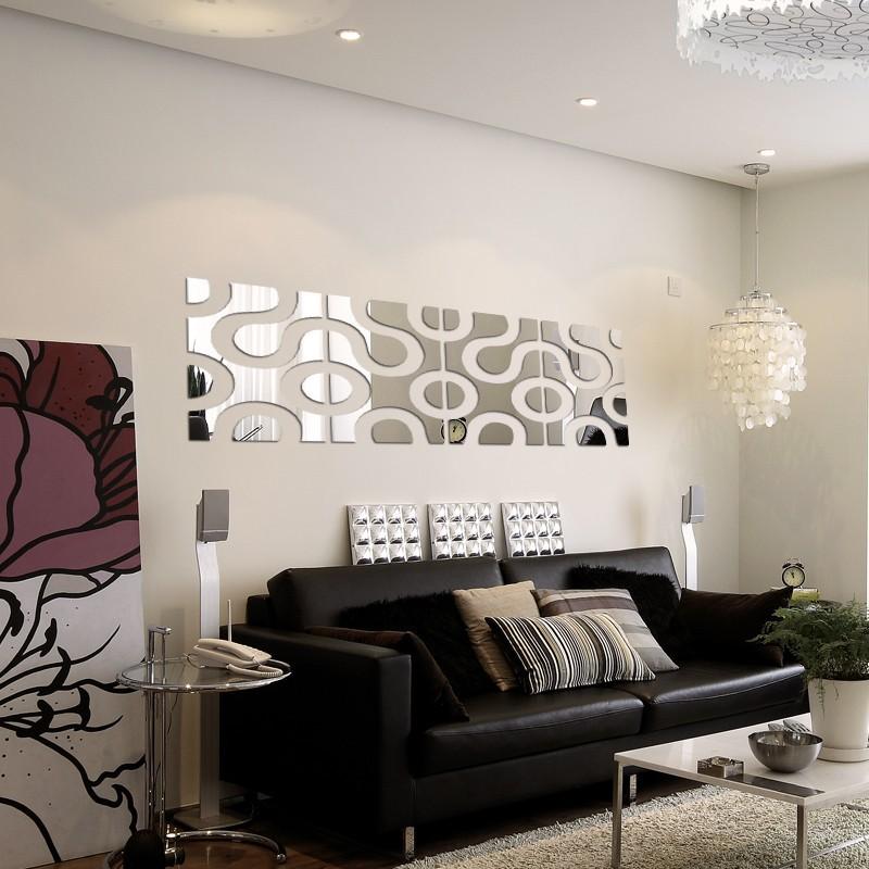 Espelho Acrílico De Parede Design Moderno 33 X 137 Cm
