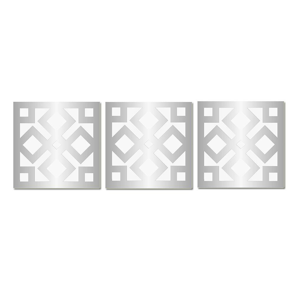 Espelho Decorado Em Acrílico - Ladrilho 33 X 104 Cm