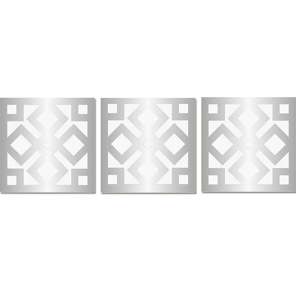 Espelho Decorado Em Acrílico Para Sala Quarto - Ladrilho 49 X 1,52 mt