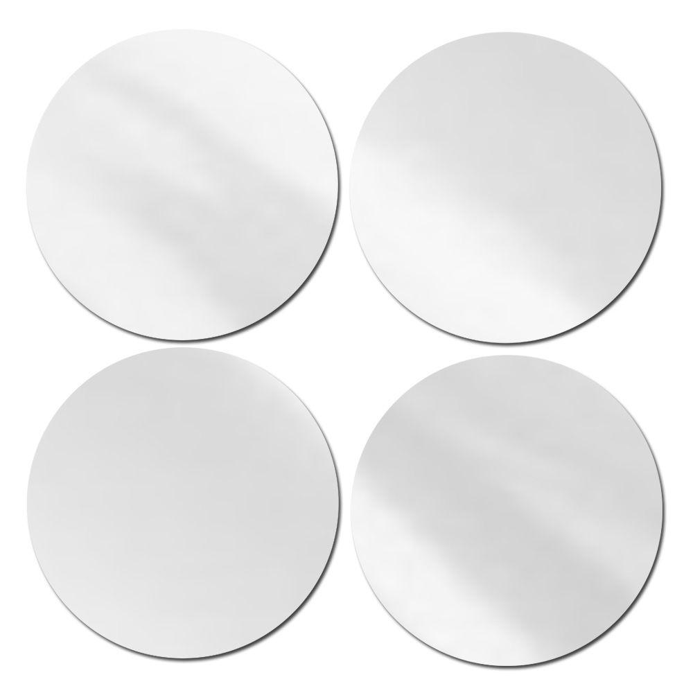 Espelho Decorativo Acrílico 4 Bolas Grandes 33 X 33 Cm