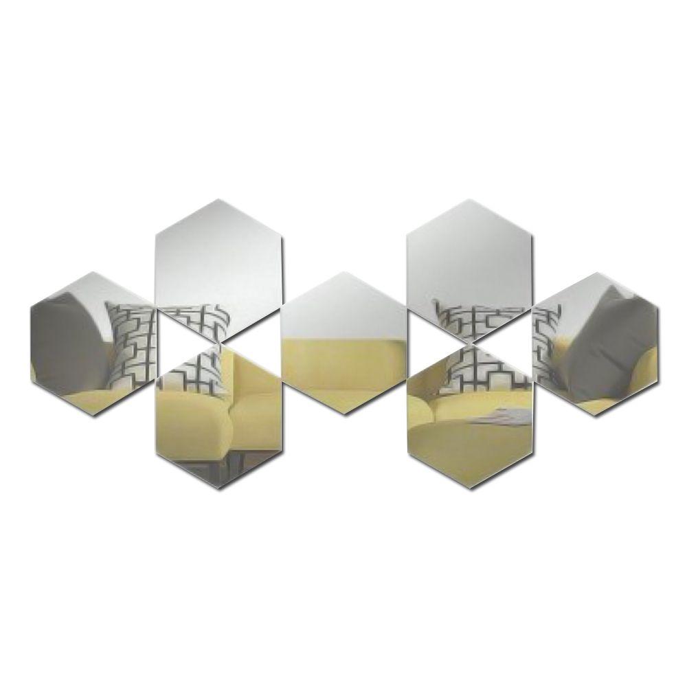 Espelho Decorativo de Acrílico Estilo Colmeia