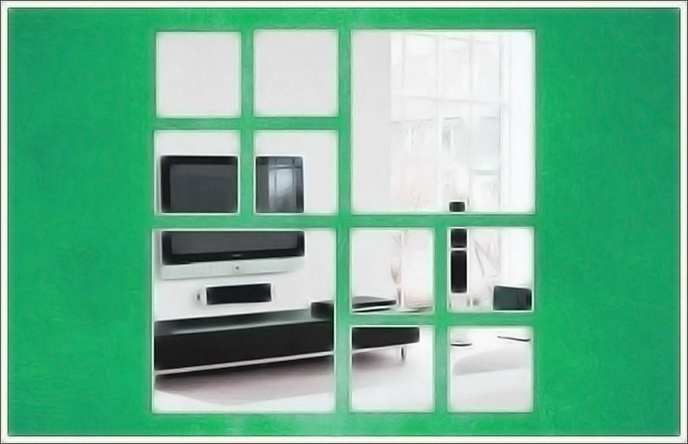 Espelho Decorativo de Vidro 10 Quadrados Personalizáveis