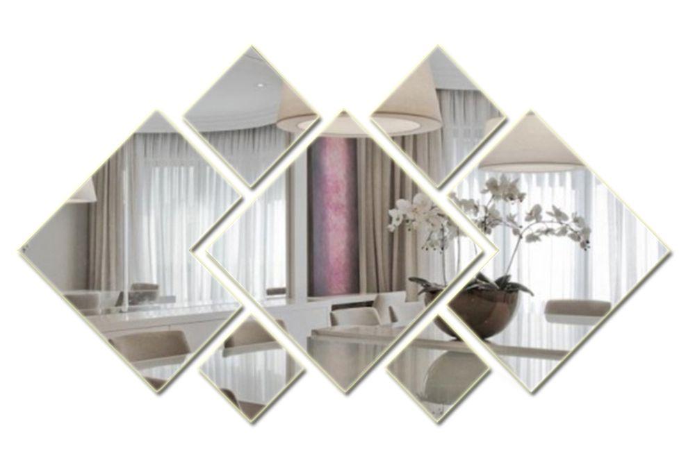 Espelho Decorativo de Vidro Personalizável 120 x 65 cm