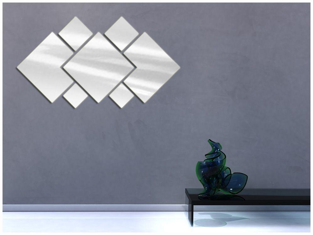 Espelho Decorativo de Vidro Personalizável 90 x 45 cm