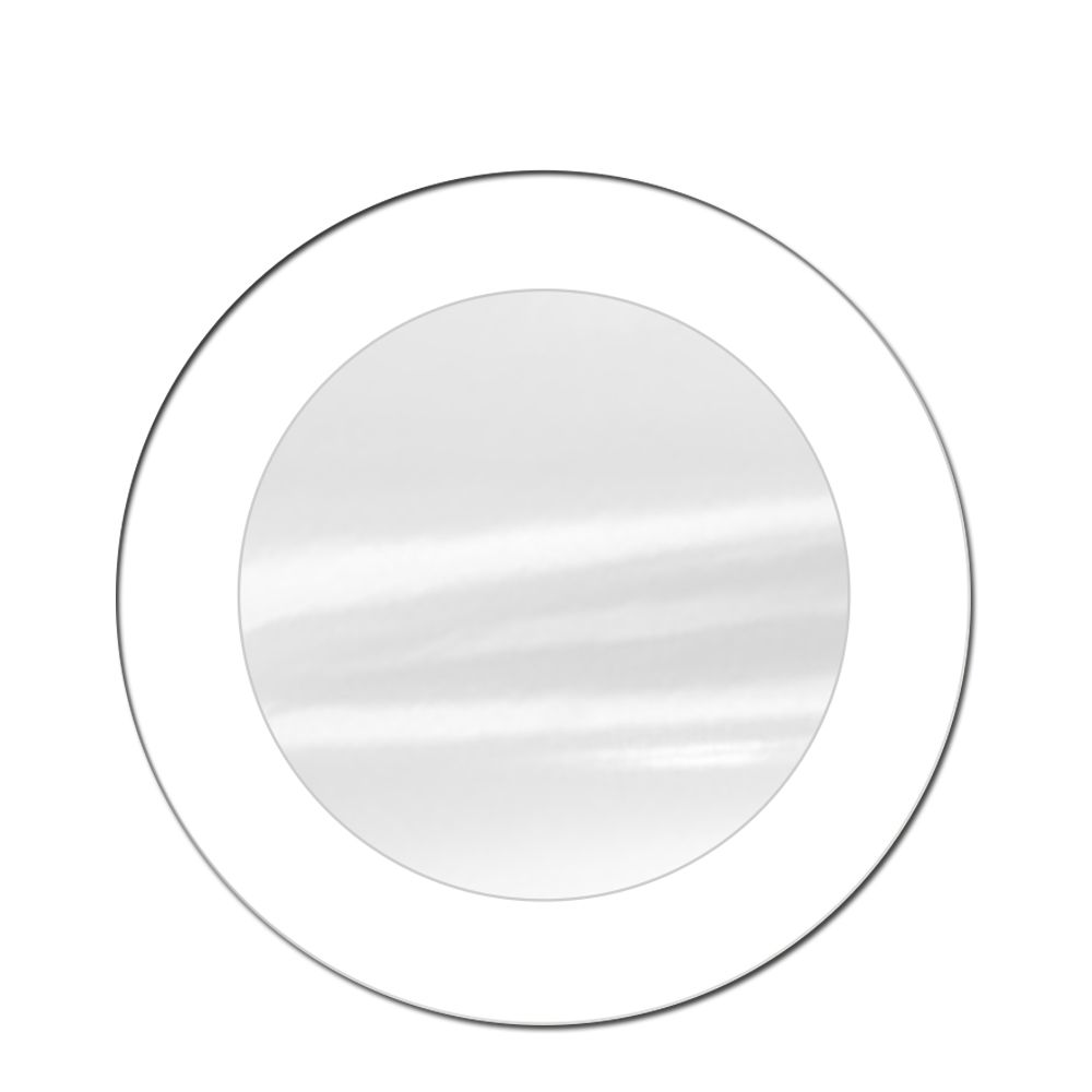 Espelho Decorativo de Vidro Redondo Tipo Anápolis Branco 60 cm x 60 cm