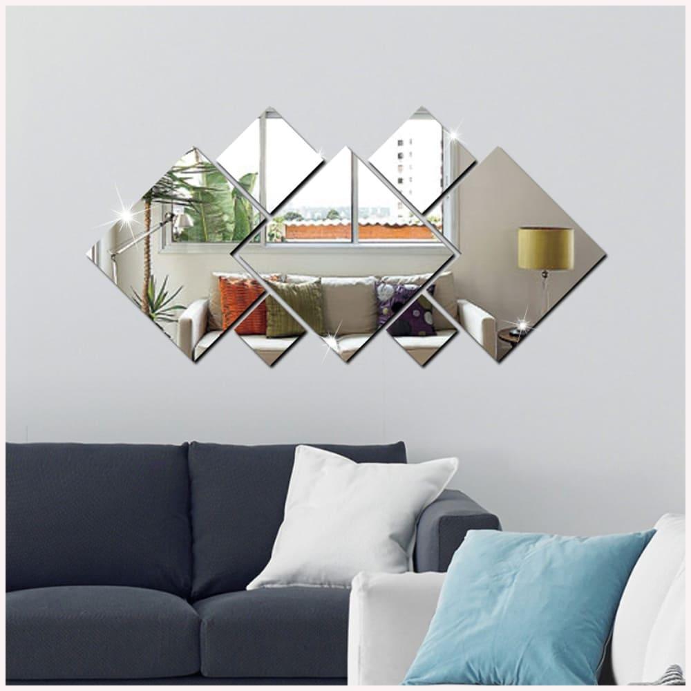 Espelho Decorativo Em Acrílico Espelhado 90 x 45 cm Personalizável