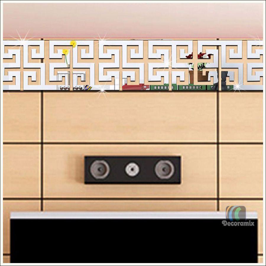 Espelho Decorativo Labirinto Kit Com 20 Peças 17 X 15 Cm