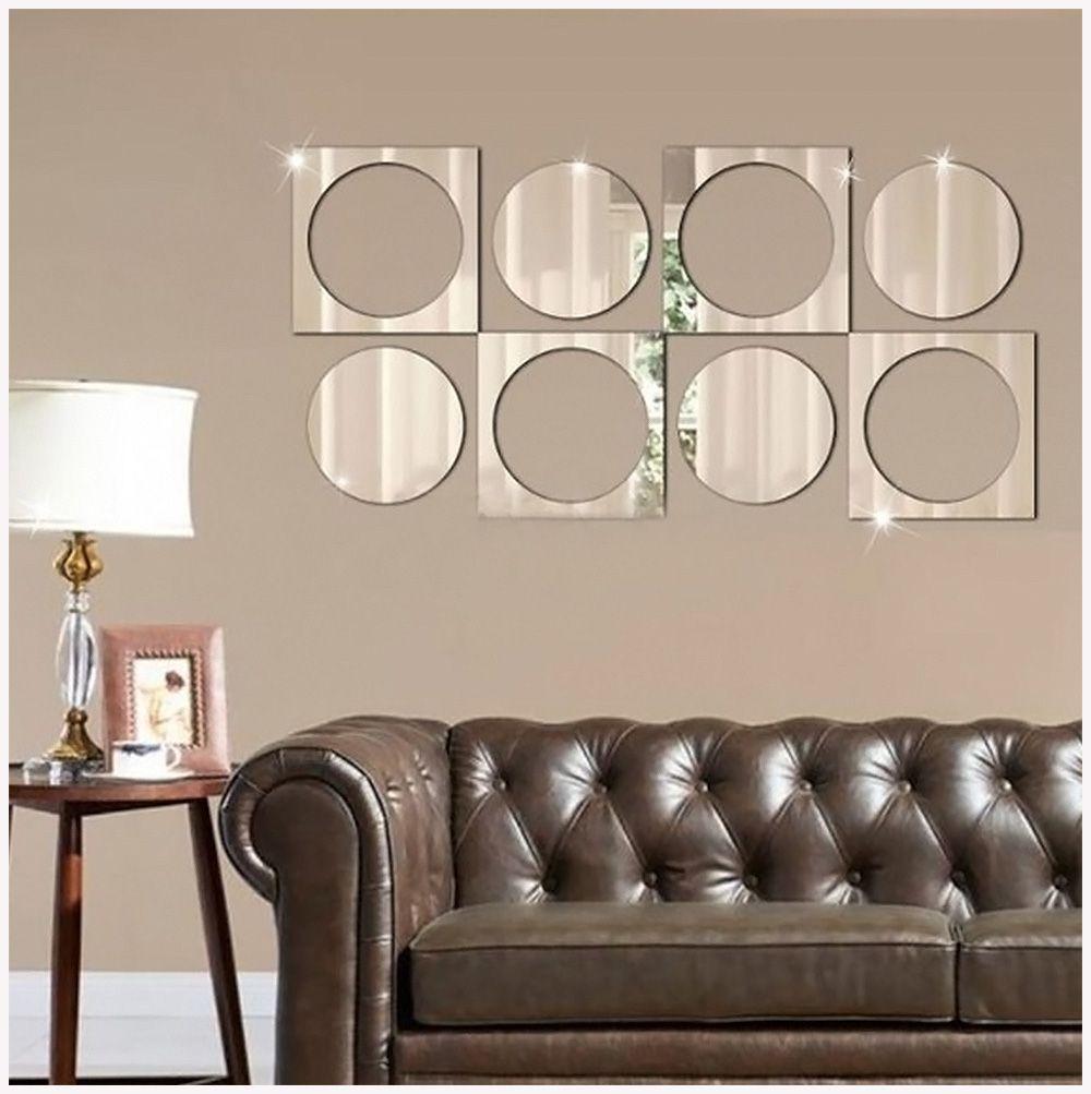 Espelho Decorativo Para Sala Em Acrílico 100 Cm X 50 Cm