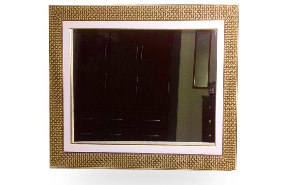 Espelho E Moldura De Parede Tamanho 66 X 51 Cm Com Paspatur