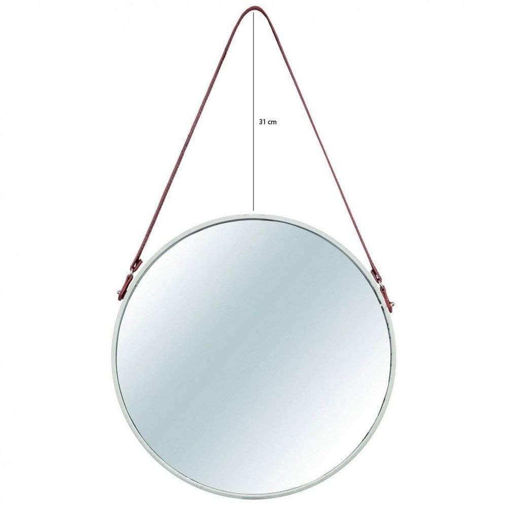 Espelho Redondo Decorativo Metal Dourado 75,5cmx45,5cm Mart Collection