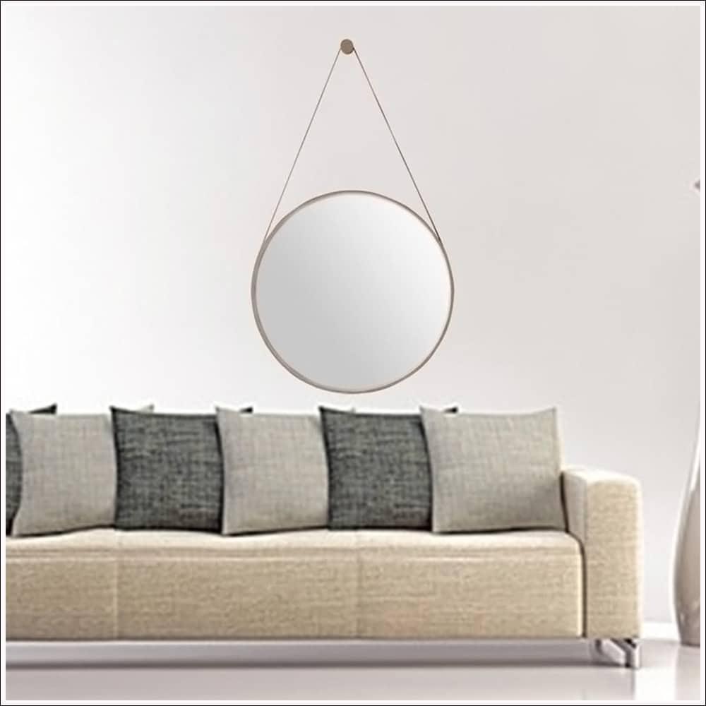 Espelho Redondo Decorativo Metal Branco 40,5cmx40,5cm Mart Collection