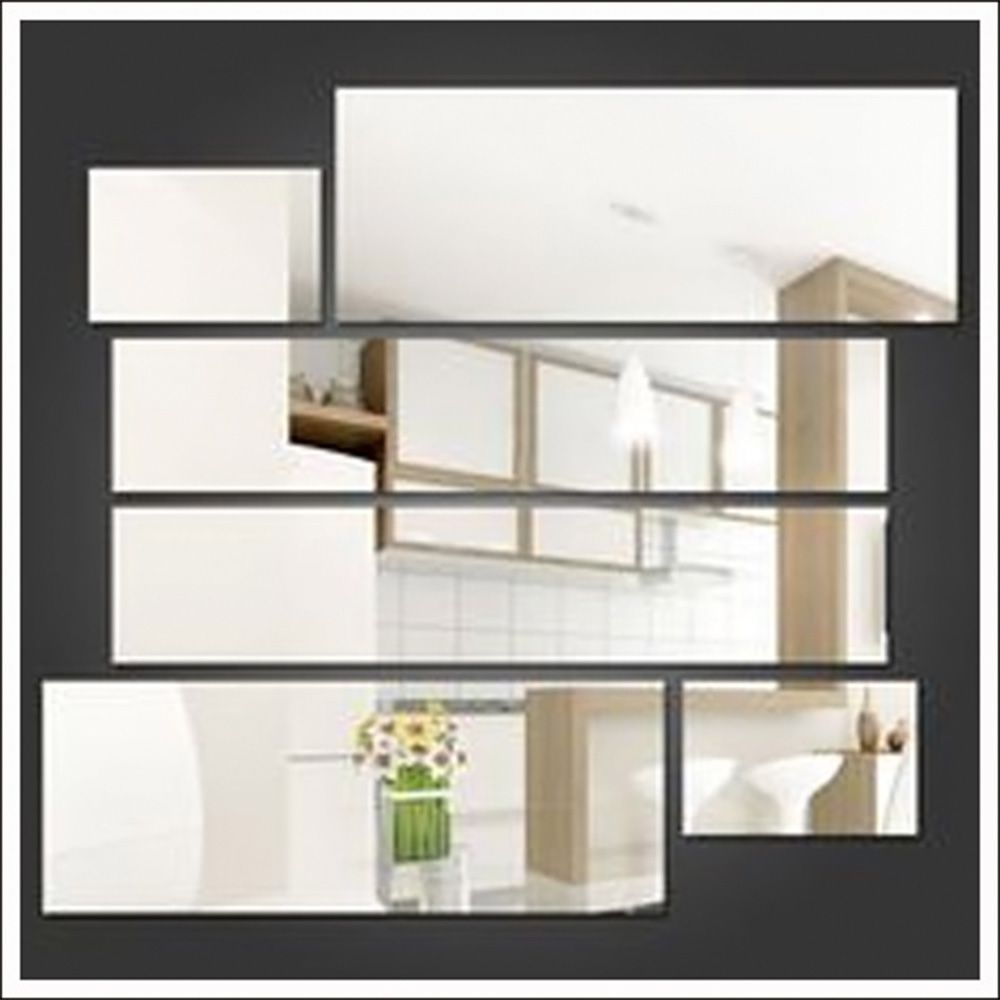 Espelhos de Vidros Retângulos Decorativos Personalizável 92 x 78 cm