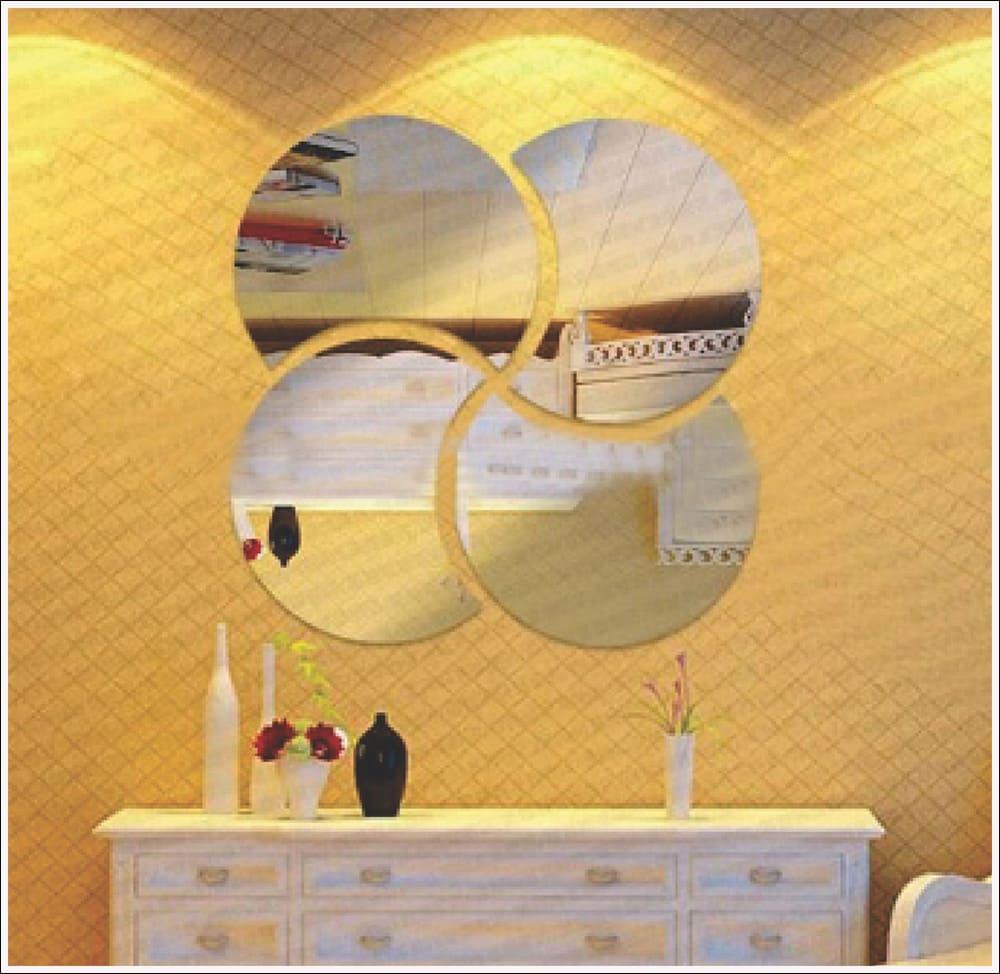 Espelhos Decorativos de Acrílico Kit Meia Lua 60 cm