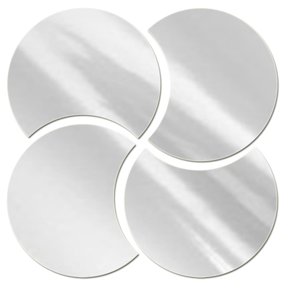 Espelhos Decorativos de Acrílico Meia Lua 45 cm