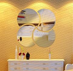 Espelhos Decorativos de Acrílico Meia Lua