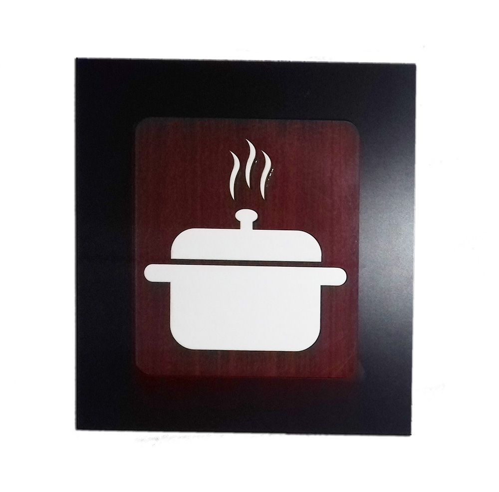 Kit 4 Quadros Decorativos para café, cozinha e restaurante fabricado em MDF com relevo 33 x 30 cm