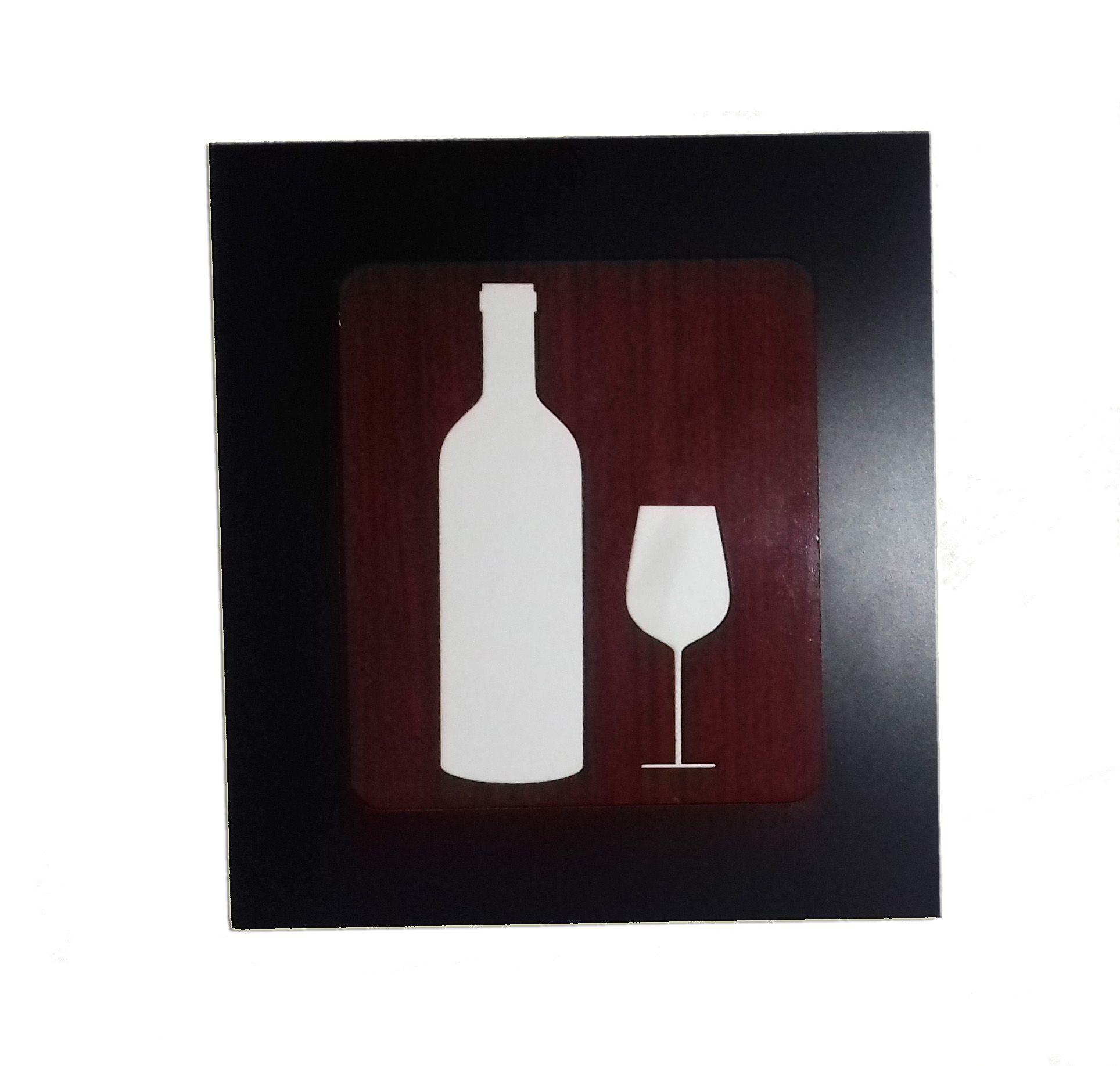Kit 4 Quadros Decorativos para restaurante e cozinha fabricado em MDF com relevo 33 x 30 cm