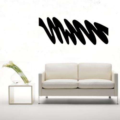Quadro De Parede Ondas Abstrata Em Mdf Pintado 100 x 45 cm