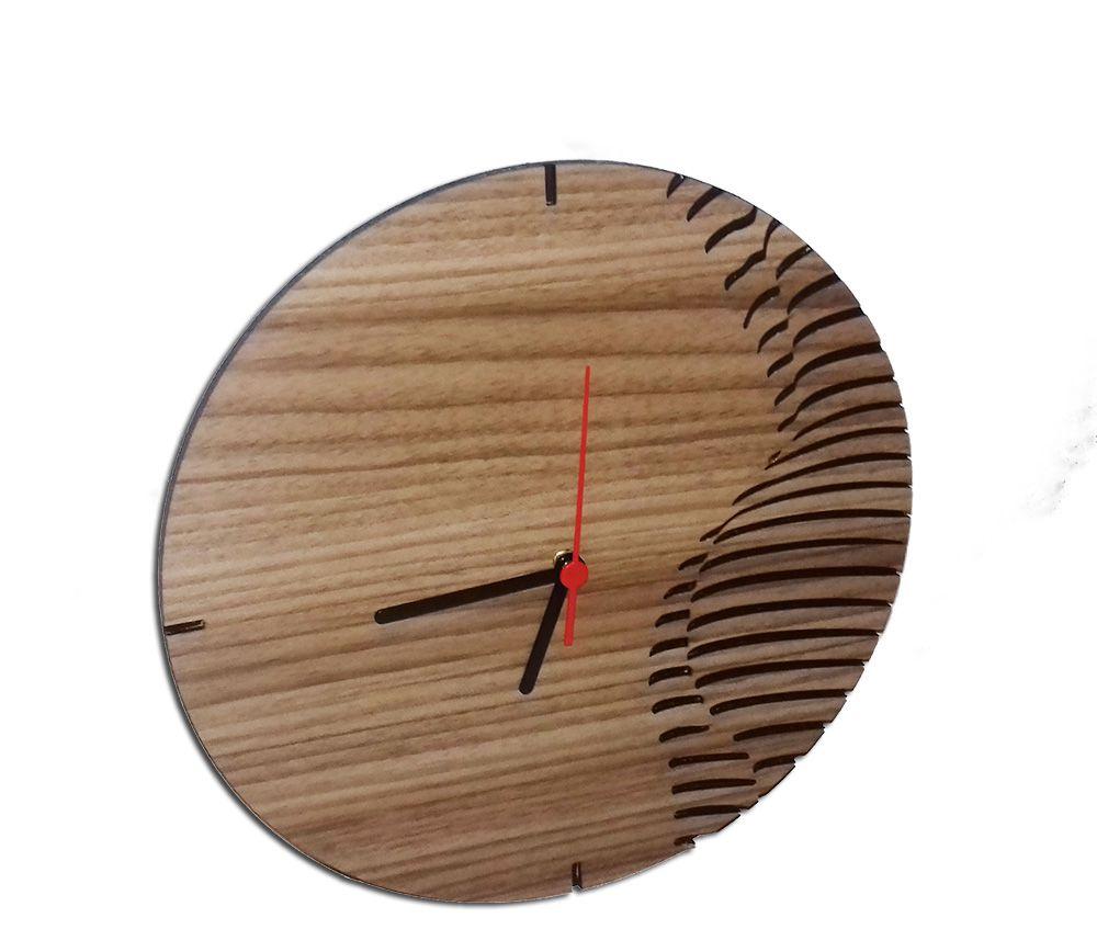 Relógio de Parede Mecanismo em Madeira Mdf Laminado Imagem Corpo Feminino
