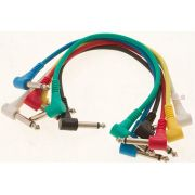 CABO GUITAR PATCH P10 MONO (TS) ANGULADO DUAL KIT 6 UNIDADES WARWICK ROCKCABLE RCL30011 D5