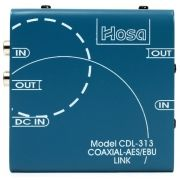 CONVERSOR DIGITAL AES/EBU XLR X S/PDIF COAXIAL RCA I/O HOSA TECHNOLOGY CDL-313