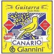 ENCORDOAMENTO P/GUITARRA 0.09 GIANNINI CANÁRIO GESGT9