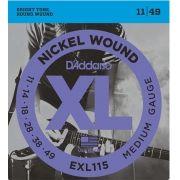 ENCORDOAMENTO P/GUITARRA 0.11 D'ADDARIO EXL115