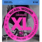 ENCORDOAMENTO P/GUITARRA 0.09 D'ADDARIO EXL120