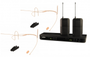 MICROFONE S/FIO DUAL HEADSET SHURE BLX188/MM-DUAL EAR PSM